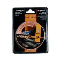 Акустический кабель+клеммы для обжима MSC -18//10 ,10 м в блистере,18 Ga,2х0,75 мм
