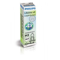Лампа галогенная Philips H3 LongLife EcoVision, 1шт/картон 12336LLECOC1