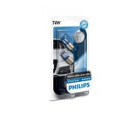 Лампа накаливания Philips T4W WhiteVision, 2шт/блистер 12929NBVB2
