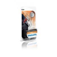 Лампа накаливания Philips W3W, 2шт/блистер 12256B2