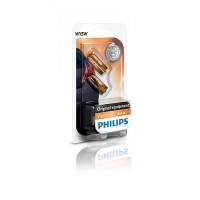 Лампа накаливания Philips WY5W, 2шт/блистер 12396NAB2